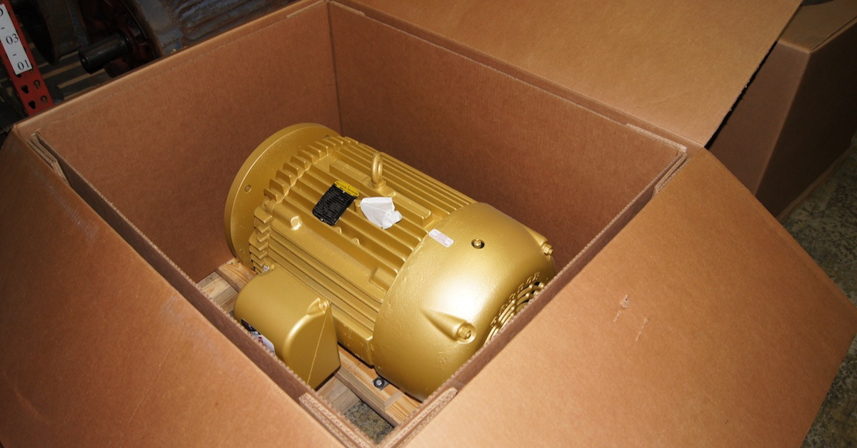 Image of a space motor in a box