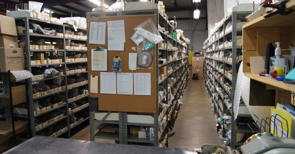 Image of a warehouse with equipment